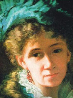 May Alcott, painted in Paris, portrait can be seen at Orchard House