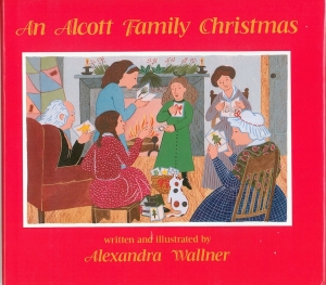 fictional account of Louisa May Alcott and her family at Christmas