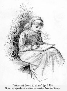 Frank Thayer Merrill illustration of Amy March from Little Women