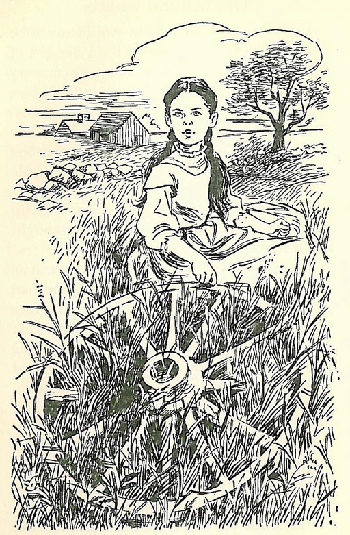 drawing by flora smith from the story of louisa may alcott