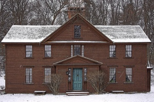 orchard house in winter