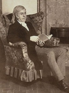 Bronson Alcott Pratt portraying Mr. March in 1932 in Concord's production of Little Women.