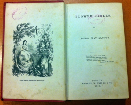 Flower Fables, original printing 1855, from the Concord Free Public Library Special Collections; used with permission