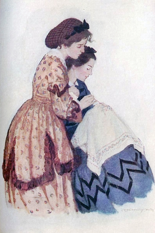 Jo and Beth; illustration by Jessie Willcox Smith