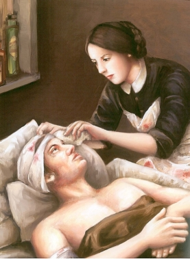 louisa may's battle nursing