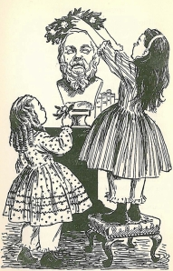 illustration by Flora Smith from The Story of Louisa May Alcott by Joan Howard