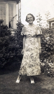 My mother at eighteen, just before entering Wellesley College in 1938