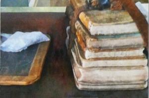books and slate