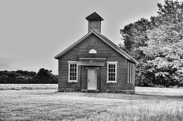 old-brick-one-room-school-house-c-wayne-hennebert