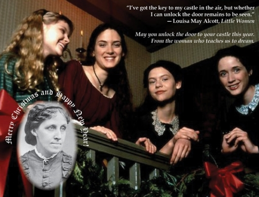 louisa may alcott is my passion christmas card 2013