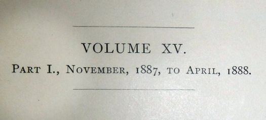 st nicholas magazine for young folks volume XV Nov. 1887-April 1888