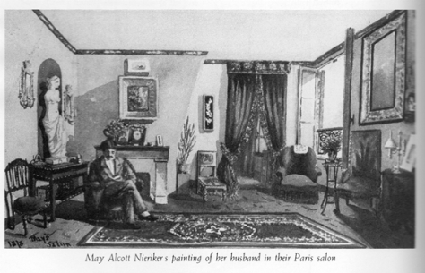 may's painting of her salon with Ernst