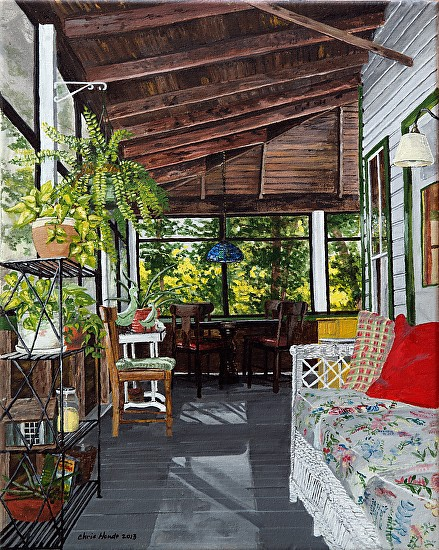 Summer Cottage Porch http://christinehoylehoude.fineartstudioonline.com/workszoom/1433365
