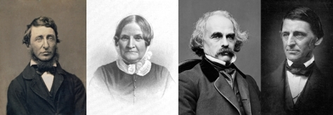 Henry David Thoreau, Lydia Marie Child, Nathaniel Hawthorne and Ralph Waldo Emerson