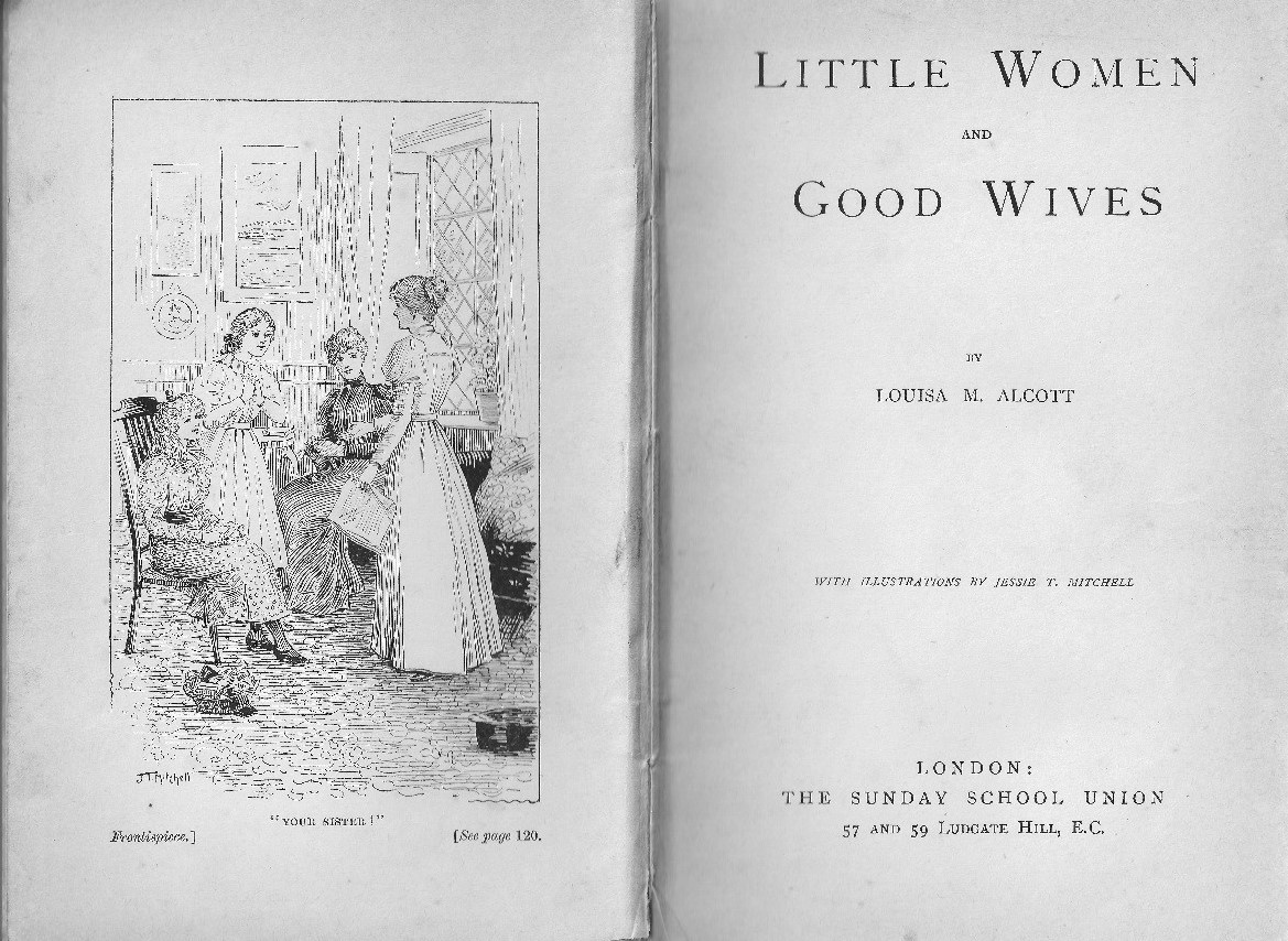 Illustration By Jessie T Mitchell For Little Women And Good Wives (london:  Sunday