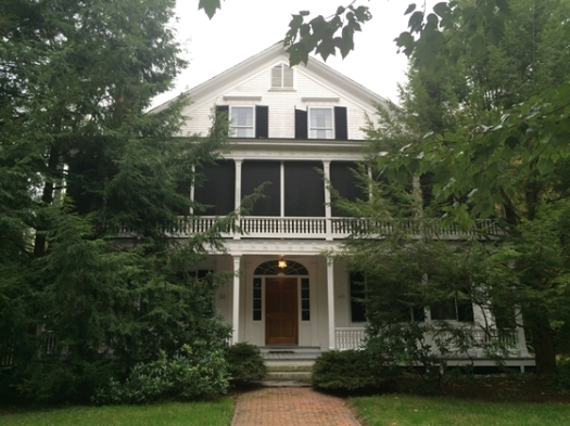 The home of Dr. Kittridge just off the town common.