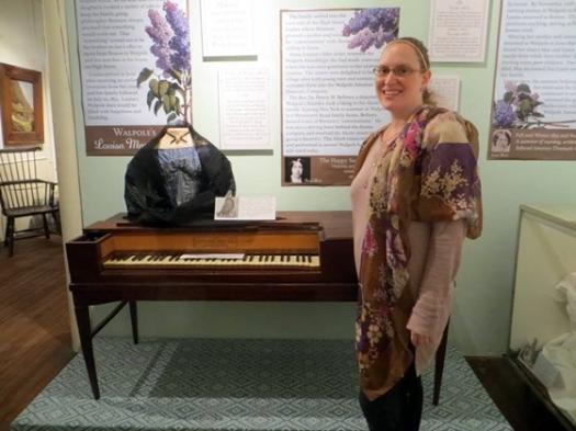 Kristi Martin with Lizzie's piano.